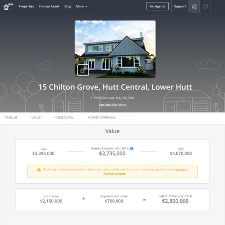 homes co nz free sales histories and estimated values for nz homes